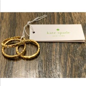NWT kate spade GOLD 3 STACK RINGS SIZE 7